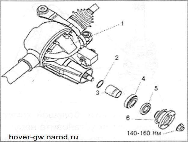 Замена сальника редуктора переднего